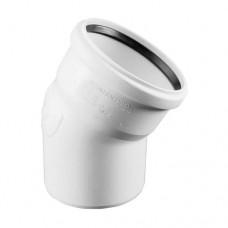 Отвод с раструбом бесшумный белый PP-H RAUPIANO PLUS Rehau