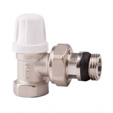 Клапан запорный для радиатора 952 никель Ру10 ВР угловой штуцер с герметичной прокладкой Icma