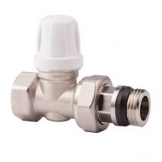 Клапан запорный для радиатора 955 никель Ру10 ВР прямой штуцер с герметичной прокладкой Icma