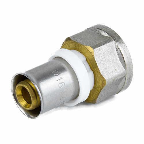 Муфта МП латунь никель 8002 ВР пресс ГОСТ 32415-2013 Aquasfera