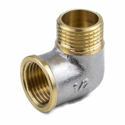 Угольник латунь никель ВР/НР 9002 ГОСТ 32585-2013 Aquasfera