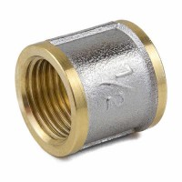 Муфта латунь никель ВР 9018 ГОСТ 32585-2013 Aquasfera