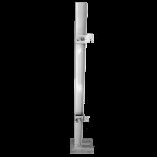 Кронштейн напольный регулируемый H=600мм стальной крепление за монтажную скобу для панельных радиаторов тип 10/11/20/30 белый Heaton