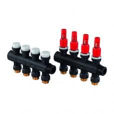 Группа коллекторн модульная коллекторн модульная пластик Vario PLUS НР с расходомерами Uponor
