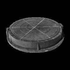 Люк полимер серый/черный (легкий садовый) круглый Сантехкомплект