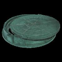 Люк полимер зелёный (легкий усиленный) круглый Сантехкомплект