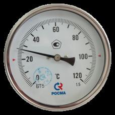 Термометр биметаллический Дк80 осевой 160C Росма