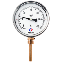 Термометр биметаллический Дк100 радиальный 350C Росма