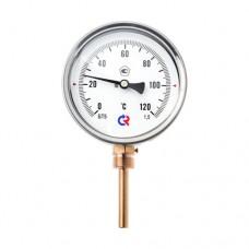 Термометр биметаллический Дк100 радиальный 120C Росма