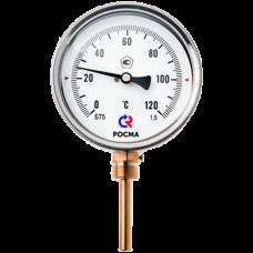 Термометр биметаллический Дк100 радиальный 100C Росма