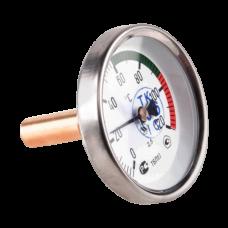 Термометр биметаллический Дк100 осевой 160C ЗАВОД ТЕПЛОТЕХНИЧЕСКИХ ПРИБОРОВ