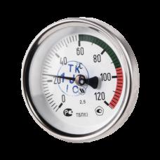 Термометр биметаллический Дк63 осевой 120C НПО ЮМАС