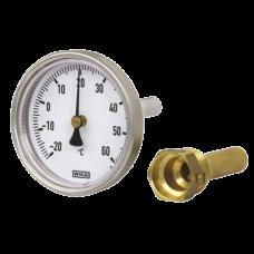 Термометр биметаллический Дк80 осевой 50C Wika