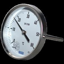 Термометр биметаллический Дк100 осевой 60C Wika