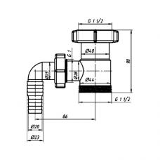 Патрубок для сифона с отводом (штуцером) АНИ Пласт