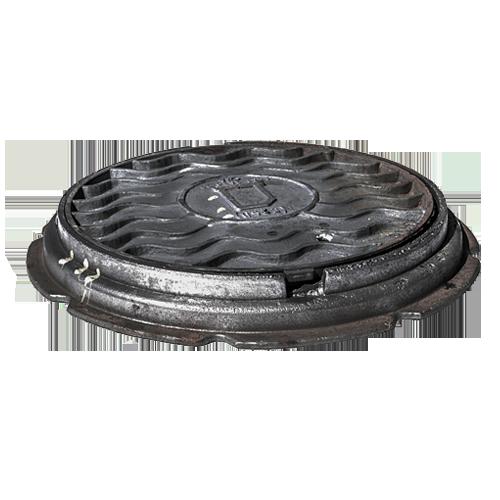 Люк чугун Т (тяжелый) дождевой канализации ГОСТ 3634-99 Кронтиф