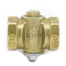 Кран конусный латунь газ 11б39бк Ру10 ВР Цветлит