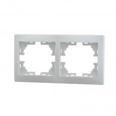 MIRA Рамка 2-ая горизонтальная б/вст белый (10шт/120шт)