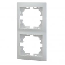 MIRA Рамка 2-ая вертикальная б/вст белый (10шт/120шт)