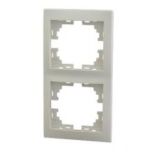 MIRA Рамка 2-ая вертикальная б/вст крем (10шт/120шт)